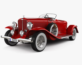 3D model of Auburn 8-98 Boattail Speedster 1931