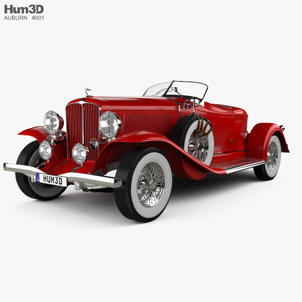 Auburn 8-98 Boattail Speedster 1931 3D model