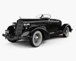 3D model of Auburn 851 SC Boattail Speedster 1935