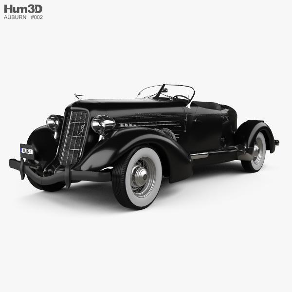 3D model of Auburn 851 SC Boattail Speedster 1935