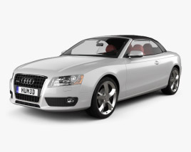 3D model of Audi A5 Convertible 2010