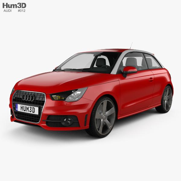 3D model of Audi A1 2010