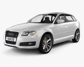 3D model of Audi A3 Sportback 2011