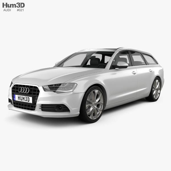3D model of Audi A6 Avant 2012