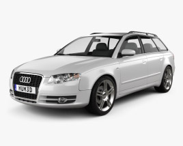 3D model of Audi A4 Avant 2005