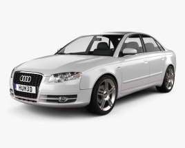 3D model of Audi A4 Saloon 2005