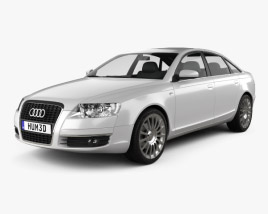 3D model of Audi A6 Saloon 2005