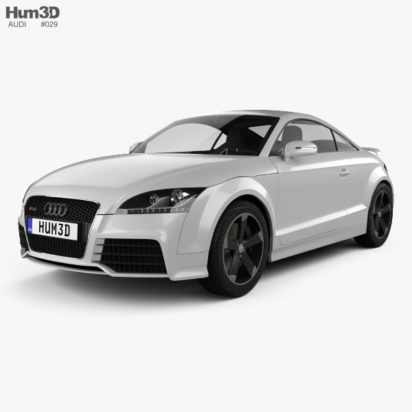 Audi TT RS Coupe with HQ interior 2010 3D model