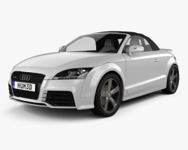 Audi TT RS Roadster with HQ Interior 2010 3D model