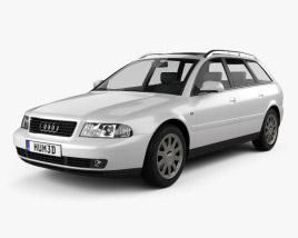 3D model of Audi A4 Avant 1999