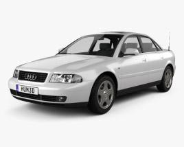 3D model of Audi A4 Sedan 1999