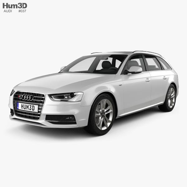 3D model of Audi S4 Avant 2013