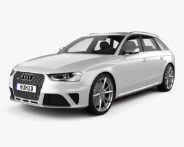 3D model of Audi RS4 Avant 2013