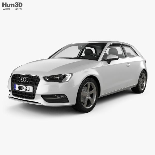 Audi A3 hatchback 3-door 2013 3D model