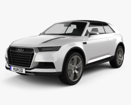 3D model of Audi Crosslane Coupe 2012