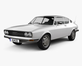 3D model of Audi 100 Coupe S 1970