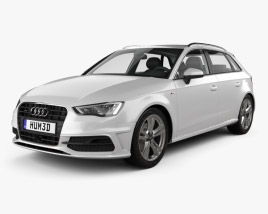 3D model of Audi A3 Sportback S-Line 2013