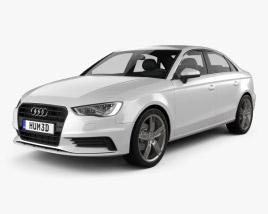 3D model of Audi A3 sedan 2013