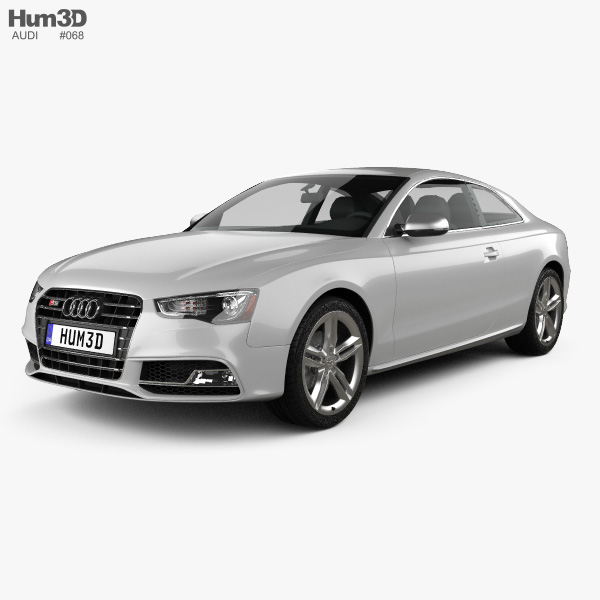 3D model of Audi S5 coupe 2012