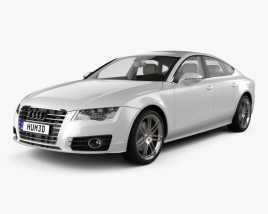 3D model of Audi A7 Sportback with HQ interior 2011