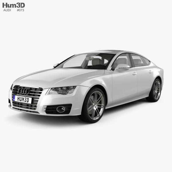 Audi A7 Sportback with HQ interior 2011 3D model