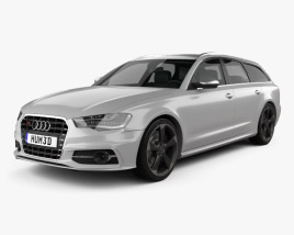 3D model of Audi S6 (C7) avant 2012