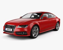 3D model of Audi S7 (4G) sportback 2012