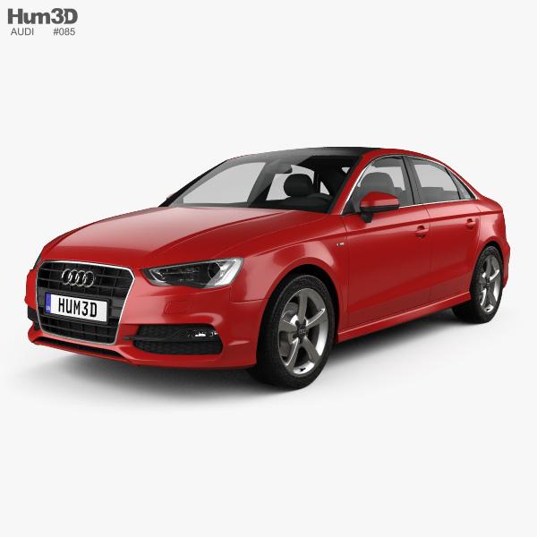 Audi A3 S line sedan 2013 3D model