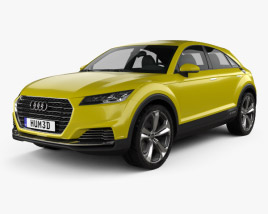 3D model of Audi TT offroad 2014