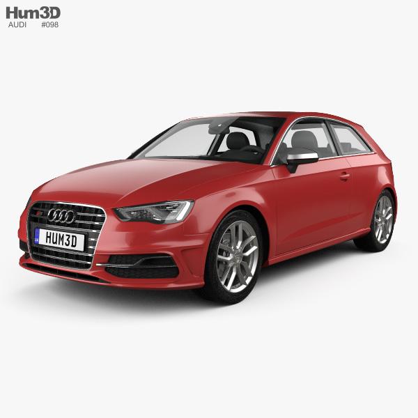 3D model of Audi S3 3-door 2014