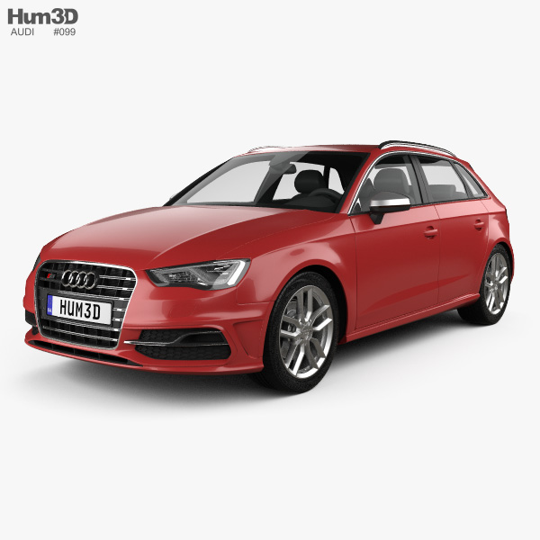 3D model of Audi S3 Sportback 2014