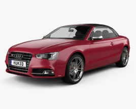 3D model of Audi S5 cabriolet 2012