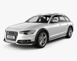 3D model of Audi A6 (C7) allroad quattro 2012