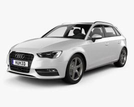 3D model of Audi A3 Sportback 2013