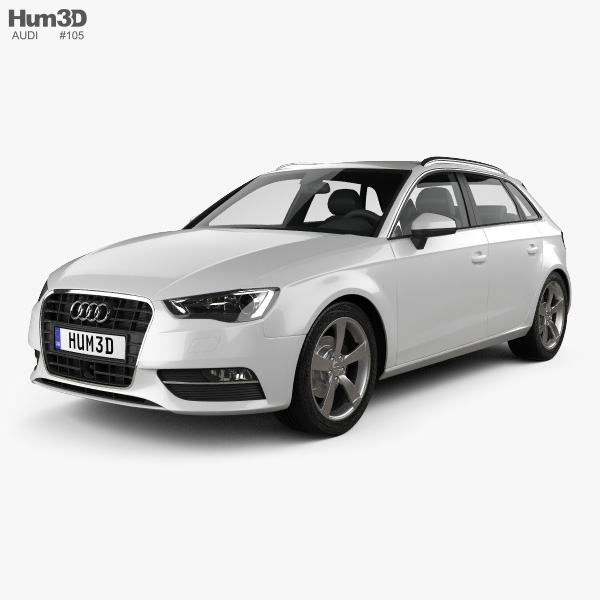 Audi A3 Sportback 2013 3D model