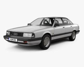 3D model of Audi 200 sedan 1983