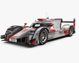 3D model of Audi R18 e-tron Quattro 2015