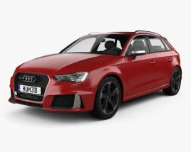 3D model of Audi RS3 Sportback 2015