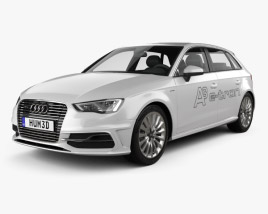 3D model of Audi A3 Sportback e-tron 2013