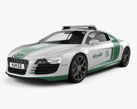 3D model of Audi R8 Police Dubai 2013