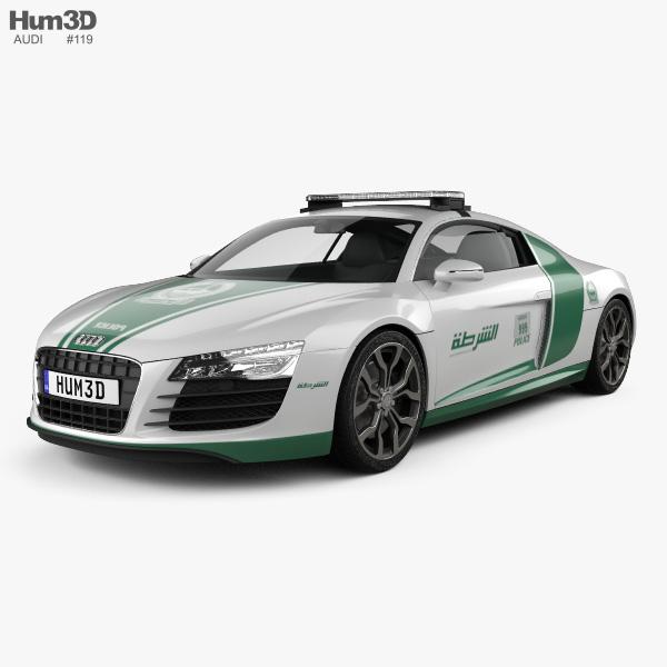 Audi R8 Police Dubai 2013 3D model