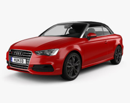 3D model of Audi S3 Cabriolet 2014