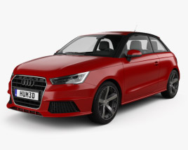 3D model of Audi A1 3-door 2015