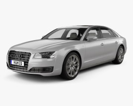 Audi A8 L with HQ interior 2014 3D model