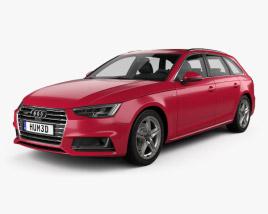 3D model of Audi A4 (B9) avant S-Line 2016