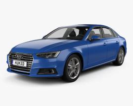 3D model of Audi A4 (B9) sedan 2016