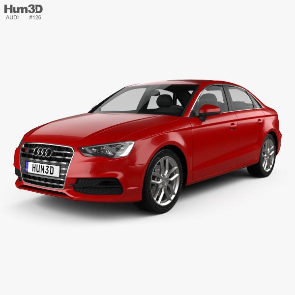 3D model of Audi S3 sedan 2013