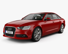 3D model of Audi A6 (C7) with HQ interior 2012