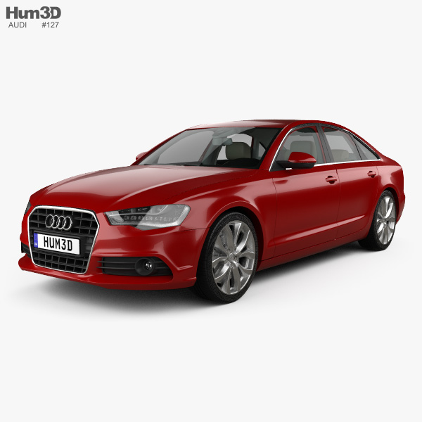 Audi A6 (C7) with HQ interior 2012 3D model