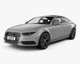 3D model of Audi A7 Sportback S-Line 2015